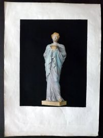 Le Musee Royal 1818 LG Folio Hand Col Statue Sculpture Print 05